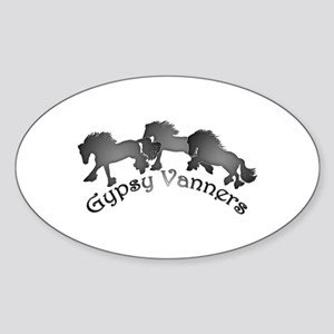 Gypsy Silhouettes Sticker (Oval)