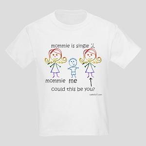 Single Mommie (Boy) Kids Light T-Shirt