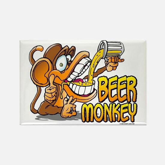 Beer Monkey @ eShirtLabs.Com Rectangle Magnet