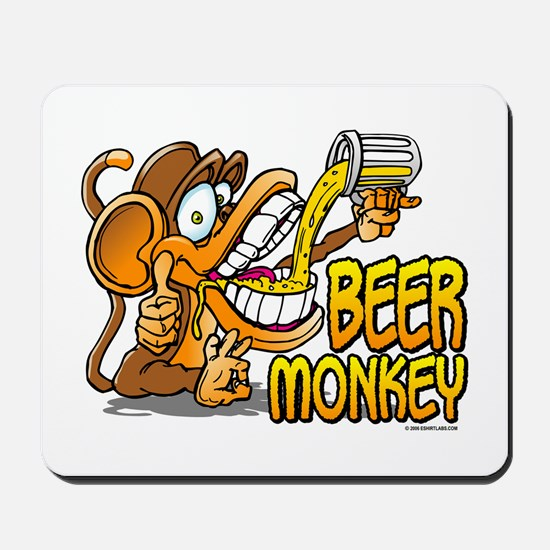 Beer Monkey @ eShirtLabs.Com Mousepad
