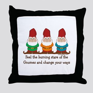 Burning Stare of The Gnomes Throw Pillow