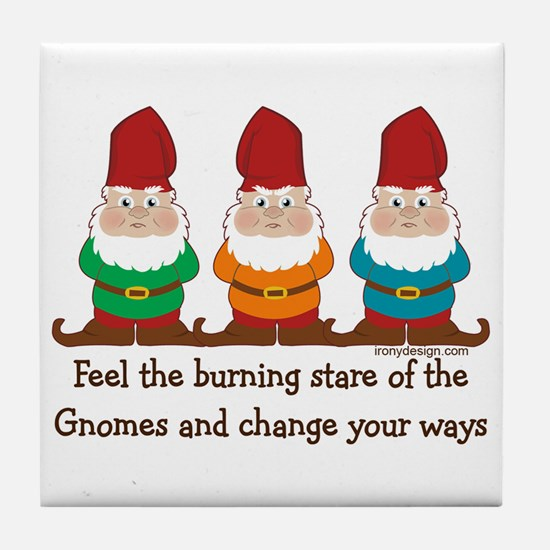 Burning Stare of The Gnomes Tile Coaster