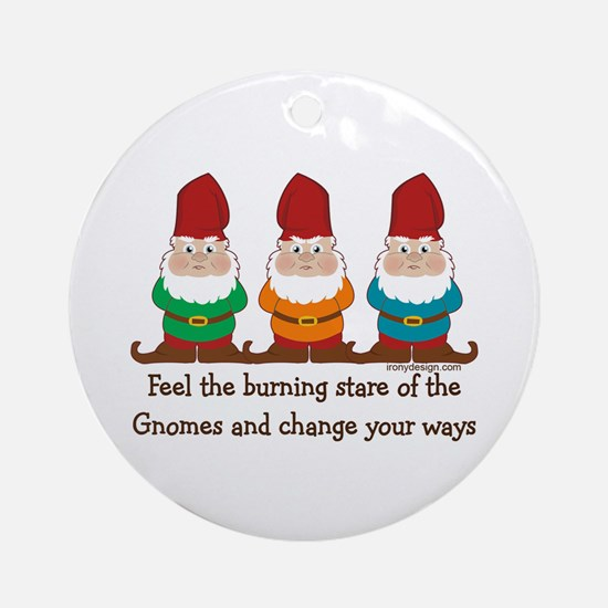 Burning Stare of The Gnomes Ornament (Round)