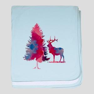 Deer and tree baby blanket