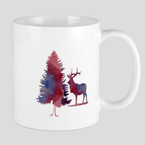 Deer and tree Mugs