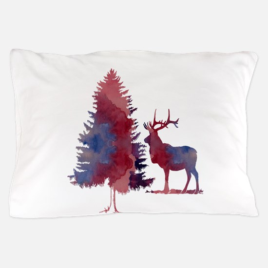 Deer and tree Pillow Case