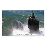 USS ALBANY Sticker (Rectangle)