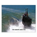USS ALBANY Small Poster
