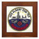 USS ALBANY Framed Tile