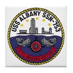USS ALBANY Tile Coaster