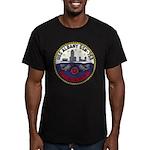 USS ALBANY Men's Fitted T-Shirt (dark)