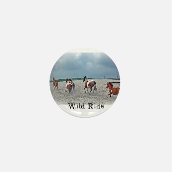 Funny Wild horse Mini Button