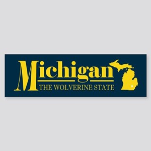 Michigan Gold Sticker (Bumper)