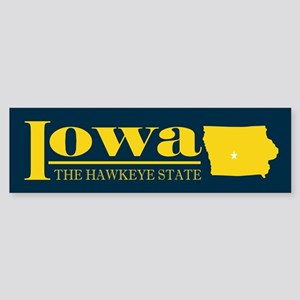 Iowa Gold Sticker (Bumper)