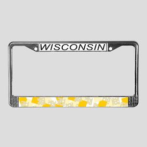 WI License Plate Frame
