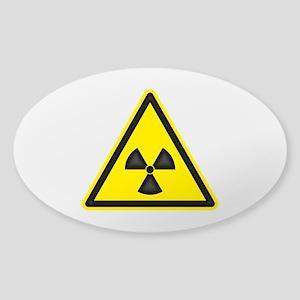 Radiation Warning Sticker (Oval)