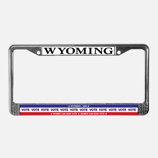 WY License Plate Frame