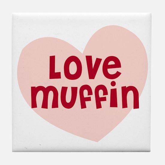 Love Muffin Tile Coaster