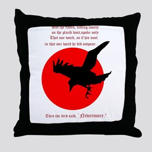 Nevermore! Throw Pillow