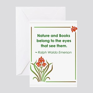 Nature and Books Greeting Card