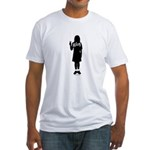 Peace Girl Gift Gear Fitted T-Shirt