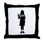 Peace Girl Gift Gear Throw Pillow