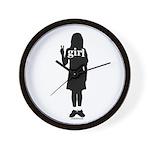 Peace Girl Gift Gear Wall Clock