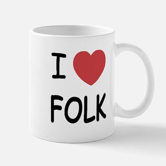 I heart folk Mug
