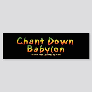 Rasta Gear Shop Chant Down Bumper Sticker