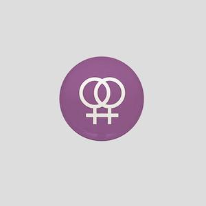 Lesbian Double Venus Mini Button