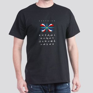 Assyrian Alphabet with Flag Black T-Shirt