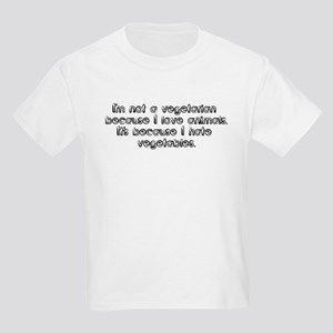 I'm not a vegetarian because  Kids T-Shirt