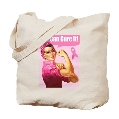Rosie the Riveter Breast Canc Tote Bag