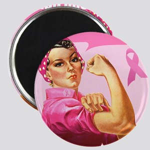 Rosie the Riveter Breast Canc Magnet