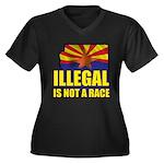 Illegal Women's Plus Size V-Neck Dark T-Shirt