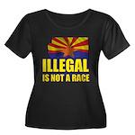 Illegal Women's Plus Size Scoop Neck Dark T-Shirt