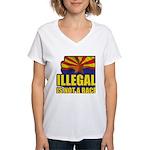 Illegal Women's V-Neck T-Shirt