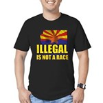 Illegal Men's Fitted T-Shirt (dark)