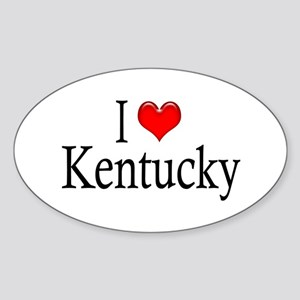 I Heart Kentucky Oval Sticker