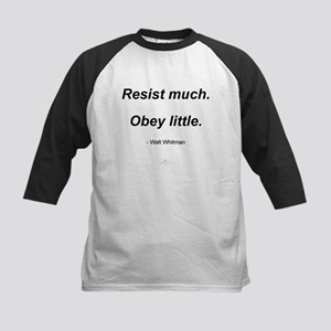 Resist much. Obey Little. Kids Baseball Jersey