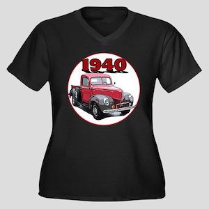 The 1940 Pickup Women's Plus Size V-Neck Dark T-Sh