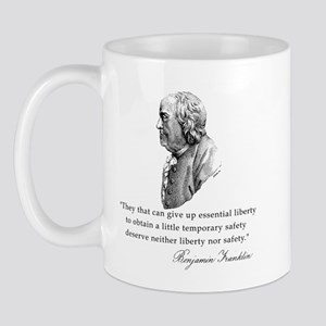 Ben Franklin Liberty Quote Mug