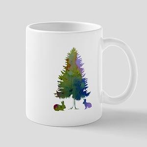 Rabbits and a fir Mugs