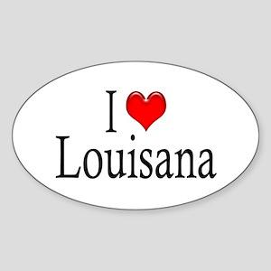 I Heart Louisana Oval Sticker