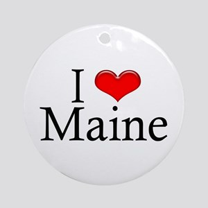 I Heart Maine Ornament (Round)