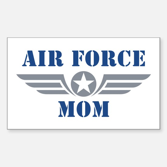 Air Force Mom Sticker (Rectangle)