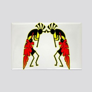 Twin Kokopeli Rectangle Magnet