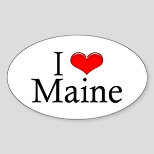 I Heart Maine Oval Sticker