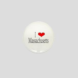 I Heart Massachusetts Mini Button