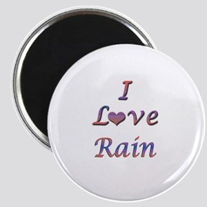 I Love Rain Magnet